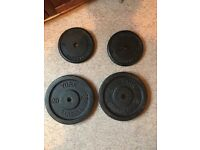 20kg (X2) and 10kg (X2) Cast Iron Weight Plates