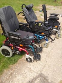 Invacare XTR with electric seat tilt