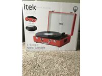 itek 3 Speed Retro Turntable