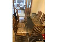 Glass table top 1.2m x 1.8m