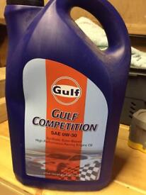 Gulf fully synthetic engine oil race competition