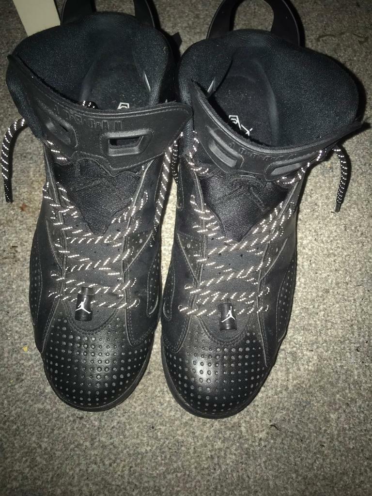 081ba182c3c090 Mens Black and White Nike Air Jordan 6 Retro Size 11