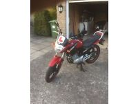 Red Yamaha YBR 125