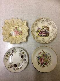Set of Four Miniature Trinket/Butter Dishes