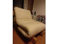 White single futon