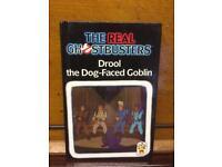 Rare original Real Ghostbusters 80s Goblin book like Ladybird retro vintage Movie Cartoon 1989