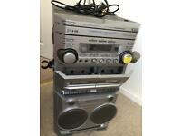 karaoke machine 3disc player with double tape player