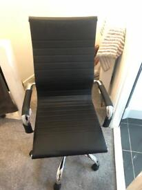 Swivel/reclining, height adjustable office chair