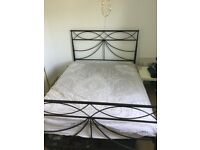 £20 double bed frame and memory foam mattress for collection only