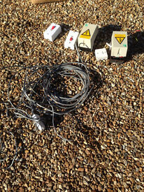 Electrical bits & wire - job lot - Ferndown, Dorset