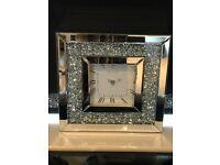 Large Contemporary Silver Clock Leonardo Range Brand New