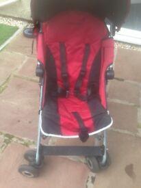 Maclaren red stroller