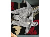 2 next snowsuits one brand new with tags 6-9 months