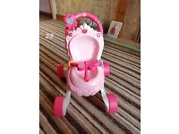 Baby walker dolls pushchair