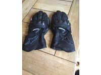 Ladies Triumph Motorbike Gloves
