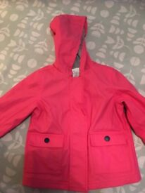 Pink fisherman style raincoat 9-12 Months, M&S