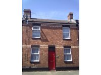2 Bed mid terrace, close to Exeter city centre; shops, buses, train etc at the end of the road