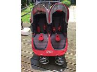 City mini baby jogger double pushchair