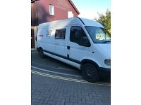 Race van / Camper van immaculate interior 3 way fridge, shower, electric, over Garage Bed.