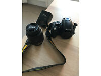Nikon D3100 + 1 Extra battery + Charger + 18-55 Lens