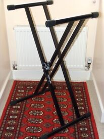 Quiklok - Heavy Duty Keyboard / Mixer Stand - With Boom Mic Attachment.