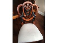 8 Seater Solid Mahogany dining table and 8 chairs