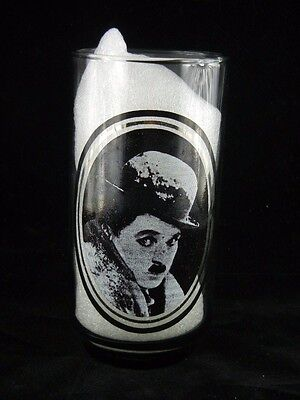"""VINTAGE 1979 Arby's Actors Collector Series Glass #1 of 6 """" CHARLIE CHAPLIN """""""