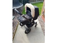 BUGABOO CAMELON PRAM/PUSHCHAIR WITH BLACK FRAME IN USED CONDITION