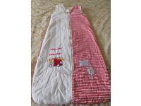 Baby sleeping bags, set of 3; 3.5 tog, 2.5 tog, 0.6 tog