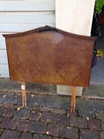 Head board (single) walnut veneer finish