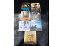 7 audio cd books Patterson /Grisham /brown