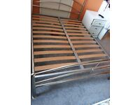 Metal bed frame only