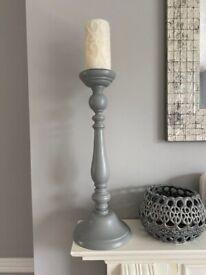 Large Grey Candle Sticks