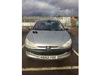Peugeot 206 5doors petrol automatic 1.4 in good driving condition with MOT air bags child lock