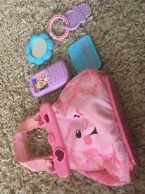 Fisher price pink bag