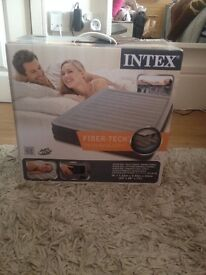 Intex FiberTech technology Queen Size Airbed with Built in Electric Pump