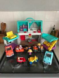 Fisher price little people bundle with cars and extras