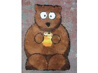 PLUSH ANIMALS - BERTIE BEAR RUG - 60 x 90 cm - NEW - £10