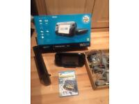Nintendo WiiU with handheld console Black Comes with Nintendo Land Game - All cables