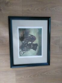 Large, Black Framed Print Picture, A Pair of Shoes by Vincent Van Gogh