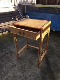 Bamboo table / stand with drawer