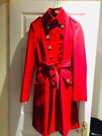 Karen Millen signature red coat uk size 8