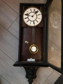 Continental Mahogany Cased Wall Clock