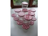 Bonne Mamman glass storage jars 370g (16) and 750g(4)