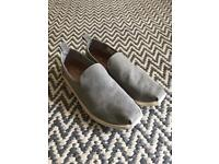 Toms Slip on Shoes Washed Grey Size 10/11
