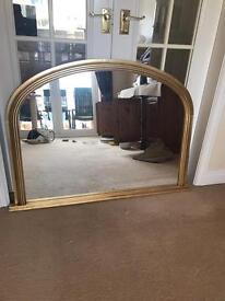 Gold finish framed mirror