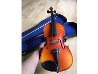 Wooden Skylark Violin MV-005 with Bow, Hard Case, Tuner & Rosin.