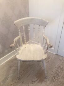 Wooden chair shabby chic