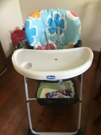 Chico child's high chair . Only used for visiting grandchildren.