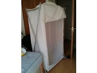 Pop up canvas wardrobe